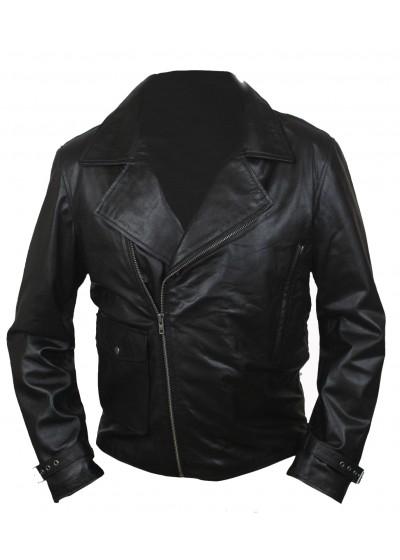 Laverapelle Men's Chris Evans Captain America Cow Hide Leather Jacket (Double Rider Jacket) - 1501796