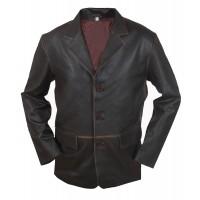 Laverapelle Men's 3 Button Vintage Real Cowhide Leather Stylish Coat - 1510801