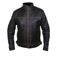 Laverapelle Men's Real Sheep Leather Distressed Look Motorcycle Jacket (Fencing Jacket) - 1501807