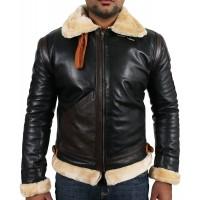 Laverapelle Men's Genuine Lambskin Leather Jacket (Aviator Jacket) - 1701022