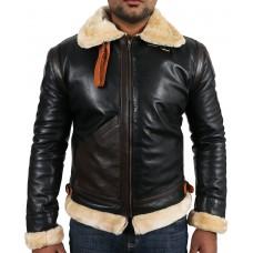 Laverapelle Men's Black Genuine Lambskin Leather jacket  - 1710022