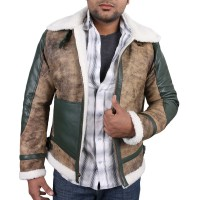 Laverapelle Men's Genuine Lambskin Leather Jacket (Aviator Jacket) - 1701023