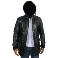 Laverapelle Men's Genuine Lambskin Leather Coat (Hooded) - 1702026