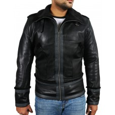Laverapelle Men's Black Genuine Lambskin Leather jacket  - 1710027