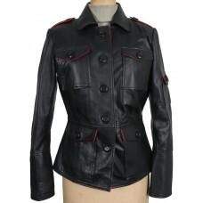 Laverapelle Women's Black Genuine Lambskin Leather jacket  - 1710037