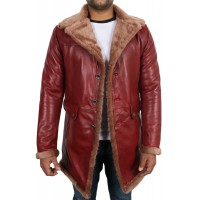 Laverapelle Men's Genuine Lambskin Leather Coat (Shearling Coat) - 1702038