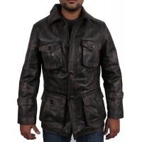Laverapelle Men's Black Genuine Cowhide Leather coat  - 1710045