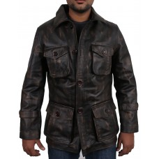 Laverapelle Men's Black Genuine Cowhide Leather coat  - 1710045