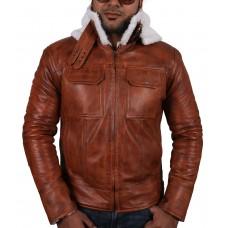 Laverapelle Men's Black Genuine Lambskin Leather jacket  - 1710052