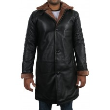 Laverapelle Men's Black Genuine Lambskin Leather coat  - 1710053