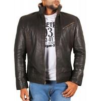 Laverapelle Men's Genuine Lambskin Leather Jacket (Racer Jacket) - 1701057