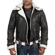 Laverapelle Men's Genuine Cow Ruboff Leather Jacket (Aviator Jacket) - 1701069