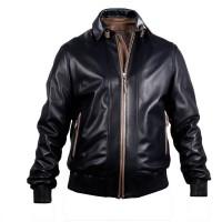Laverapelle Men's Genuine Lambskin Leather Jacket (Bomber Jacket) - 1501813