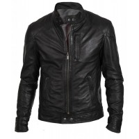 Laverapelle Men's Genuine Lambskin Leather Jacket (Racer Jacket) - 1501187