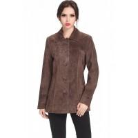 Laverapelle Women's Black Genuine Cowhide Leather Coat  - 1510657