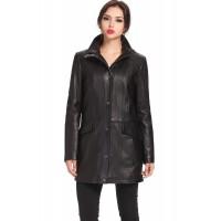 Laverapelle Women's Genuine Lambskin Leather Coat (Officer Coat) - 1522685