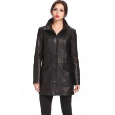 Laverapelle Women's Genuine Lambskin Leather Coat - 1510685