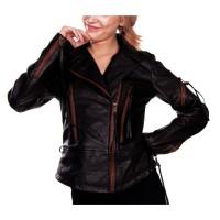 Laverapelle Women's Genuine Lambskin Leather Jacket (Fencing Jacket) - 1521751