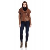 Laverapelle Women's Genuine Lambskin Leather Jacket (Aviator Jacket) - 1521675