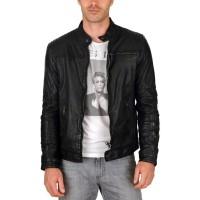 Laverapelle Men's Genuine Lambskin Leather Jacket (Racer Jacket) - 1501632