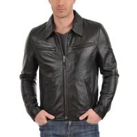 Laverapelle Men's Genuine Lambskin Leather Jacket (Aviator Jacket) - 1501611