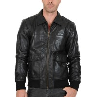 Laverapelle Men's Genuine Lambskin Leather Jacket (Bomber Jacket) - 1501629
