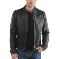 Laverapelle Men's Genuine Lambskin Leather Jacket (Racer Jacket) - 1501604