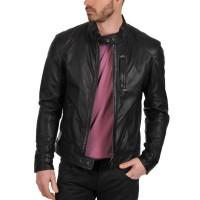 Laverapelle Men's Genuine Lambskin Leather Jacket (Racer Jacket) - 1501618