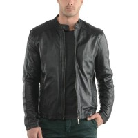 Laverapelle Men's Genuine Cowhide Leather Jacket (Racer Jacket) - 1501606