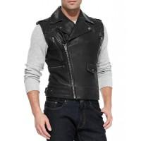 Laverapelle Men's Genuine Lambskin Leather Waist (Biker Vest) - 1503096