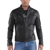 Laverapelle Men's Genuine Cowhide Leather Jacket (Racer Jacket) - 1501625