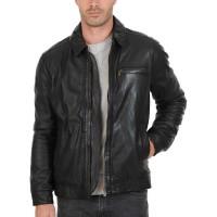Laverapelle Men's Genuine Cowhide Leather Jacket (Aviator Jacket) - 1501584