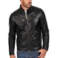 Laverapelle Men's Genuine Cowhide Leather Jacket (Racer Jacket) - 1501631