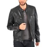 Laverapelle Men's Genuine Lambskin Leather Jacket (Racer Jacket) - 1501619