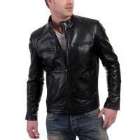 Laverapelle Men's Genuine Cowhide Leather Jacket (Racer Jacket) - 1501626