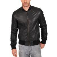 Laverapelle Men's Genuine Lambskin Leather Jacket (Bomber Jacket) - 1501015