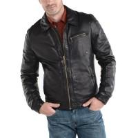 Laverapelle Men's Genuine Lambskin Leather Jacket (Aviator Jacket) - 1501567