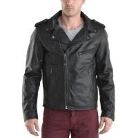 Laverapelle Men's Genuine Cowhide Leather Jacket (Double Rider Jacket) - 1501006
