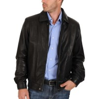 Laverapelle Men's Genuine Lambskin Leather Jacket (Aviator Jacket) - 1501305
