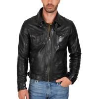 Laverapelle Men's Genuine Cowhide Leather Jacket (Regal Jacket) - 1501010