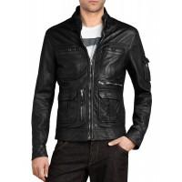 Laverapelle Men's Genuine Cowhide Leather Jacket (Officer Jacket) - 1501593