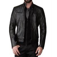 Laverapelle Men's Genuine Lambskin Leather Jacket (Fencing Jacket) - 1501573