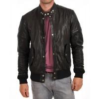 Laverapelle Men's Genuine Lambskin Leather Jacket (Bomber Jacket) - 1501594