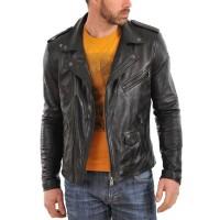 Laverapelle Men's Genuine Cowhide Leather Jacket (Double Rider Jacket) - 1501035