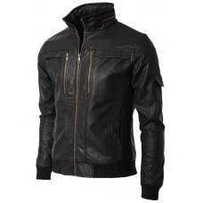 Laverapelle Men's Genuine Cowhide Leather Jacket (Bomber Jacket) - 1501213