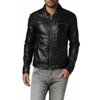 Laverapelle Men's Genuine Lambskin Leather Jacket (Aviator Jacket) - 1501093