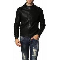 Laverapelle Men's Genuine Lambskin Leather Jacket (Racer Jacket) - 1501122