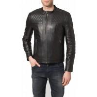 Laverapelle Men's Genuine Lambskin Leather Jacket (Racer Jacket) - 1501082