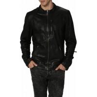 Laverapelle Men's Genuine Lambskin Leather Jacket (Racer Jacket) - 1501319