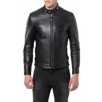 Laverapelle Men's Genuine Cowhide Leather Jacket (Racer Jacket) - 1501291